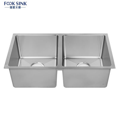 Square Single Bowl Undermount Stainless Steel Kitchen Sink Easy Cleaning
