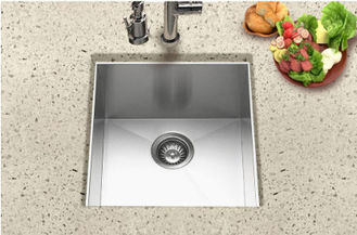 Small Undermount Single Bowl Sink / Stainless Steel Bar Sink With Faucet