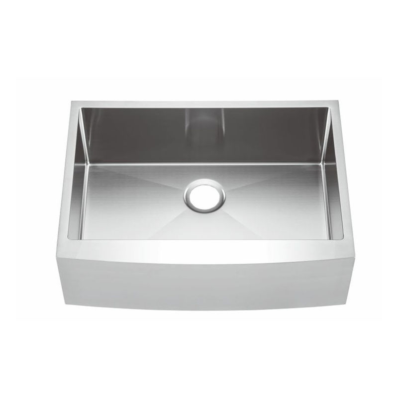 Undermount Apron Stainless Steel Kitchen Sink With Polished Surface Treatment