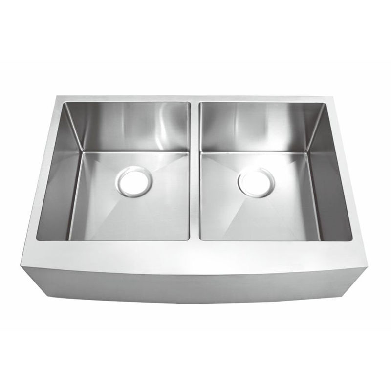 Polished Surface Apron Stainless Steel Kitchen Sink Undermount Installation