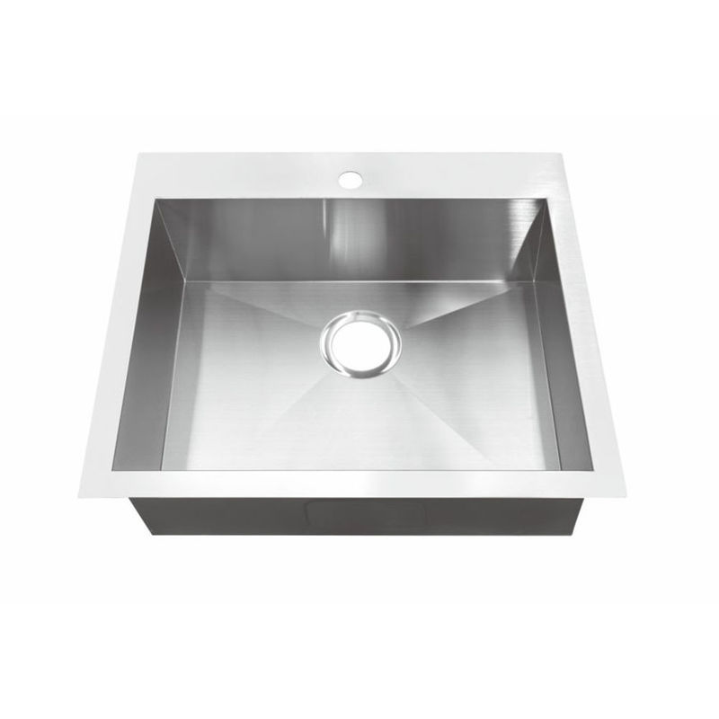 Household Stylish Top Mount Stainless Steel Kitchen Sink 5 Years Warranty / Square Stainless Steel Kitchen Sink