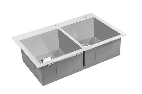 Hand Made Top Mount Stainless Steel Kitchen Sink Easy Installation / Stainless Steel Laundry Sink